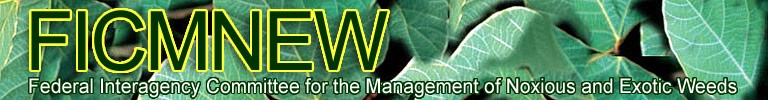 banner of the Federal Interagency Committee for the Management of Noxious and Exotic Weeds